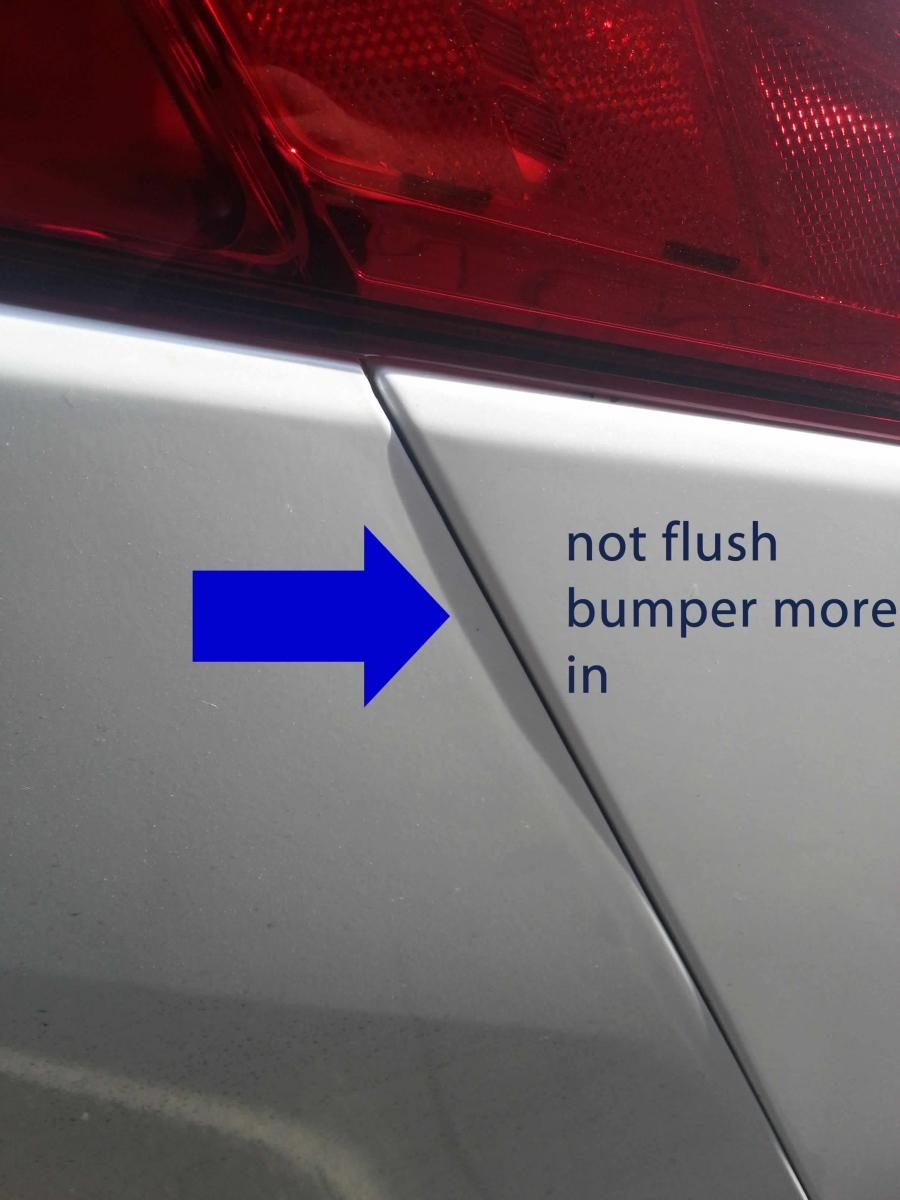& back bumper and back fender alignment...? check yours!