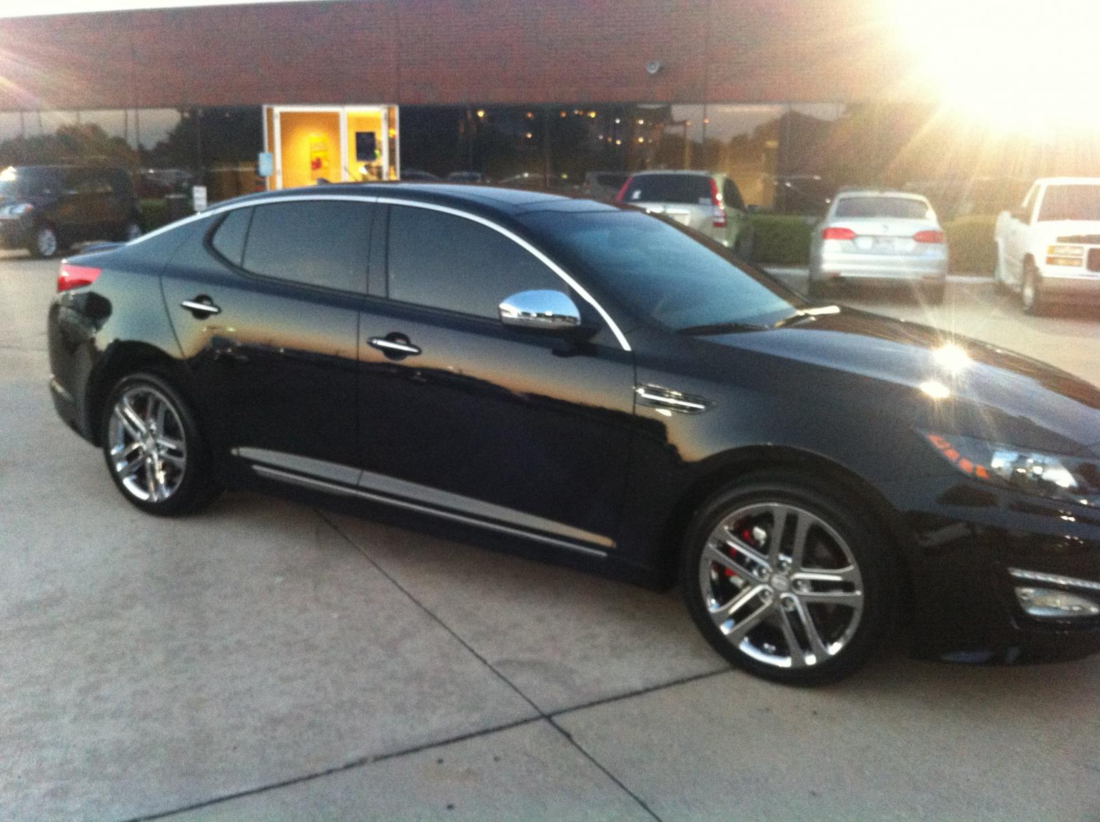 Kia Optima 2013 Black 2013 Kia Optima SX w Chrome
