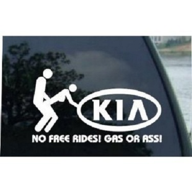 All Funny Kia Decal