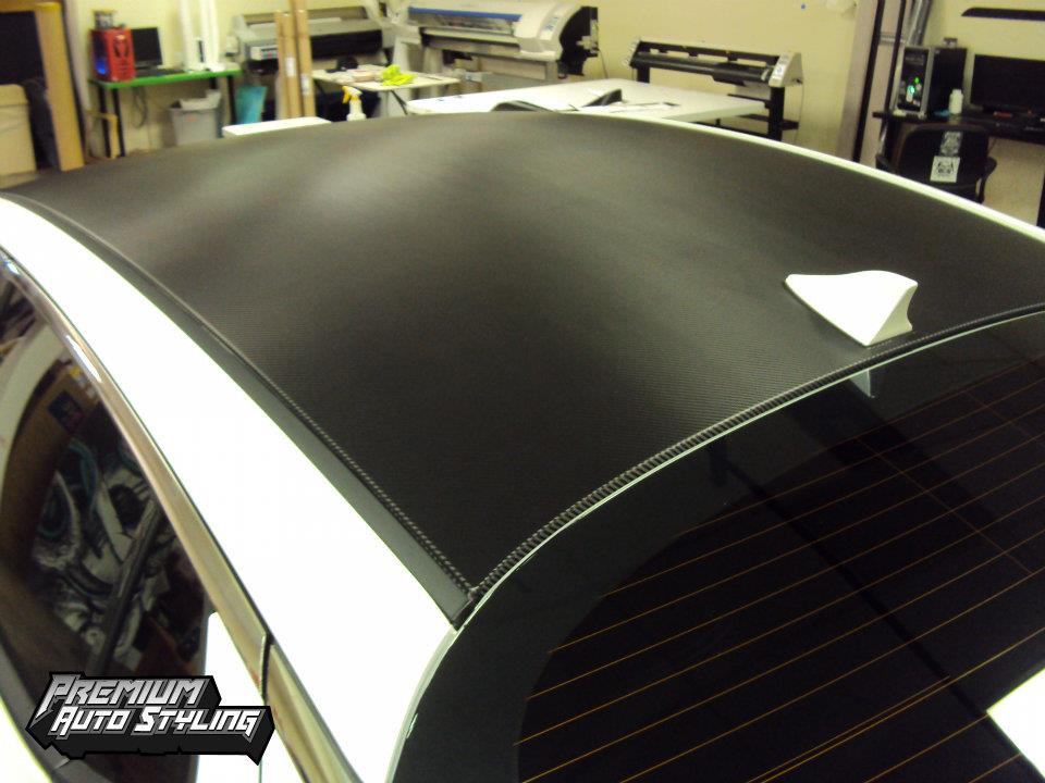 D Carbon Fiber Roof Vinyl Wrap N