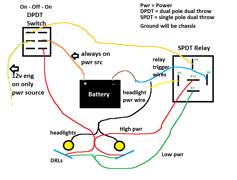 anyone experience issues with ebay led drls from motoringmax rh optimaforums com Waterproof LED Switch Wiring Diagram LED Push Switch Wiring