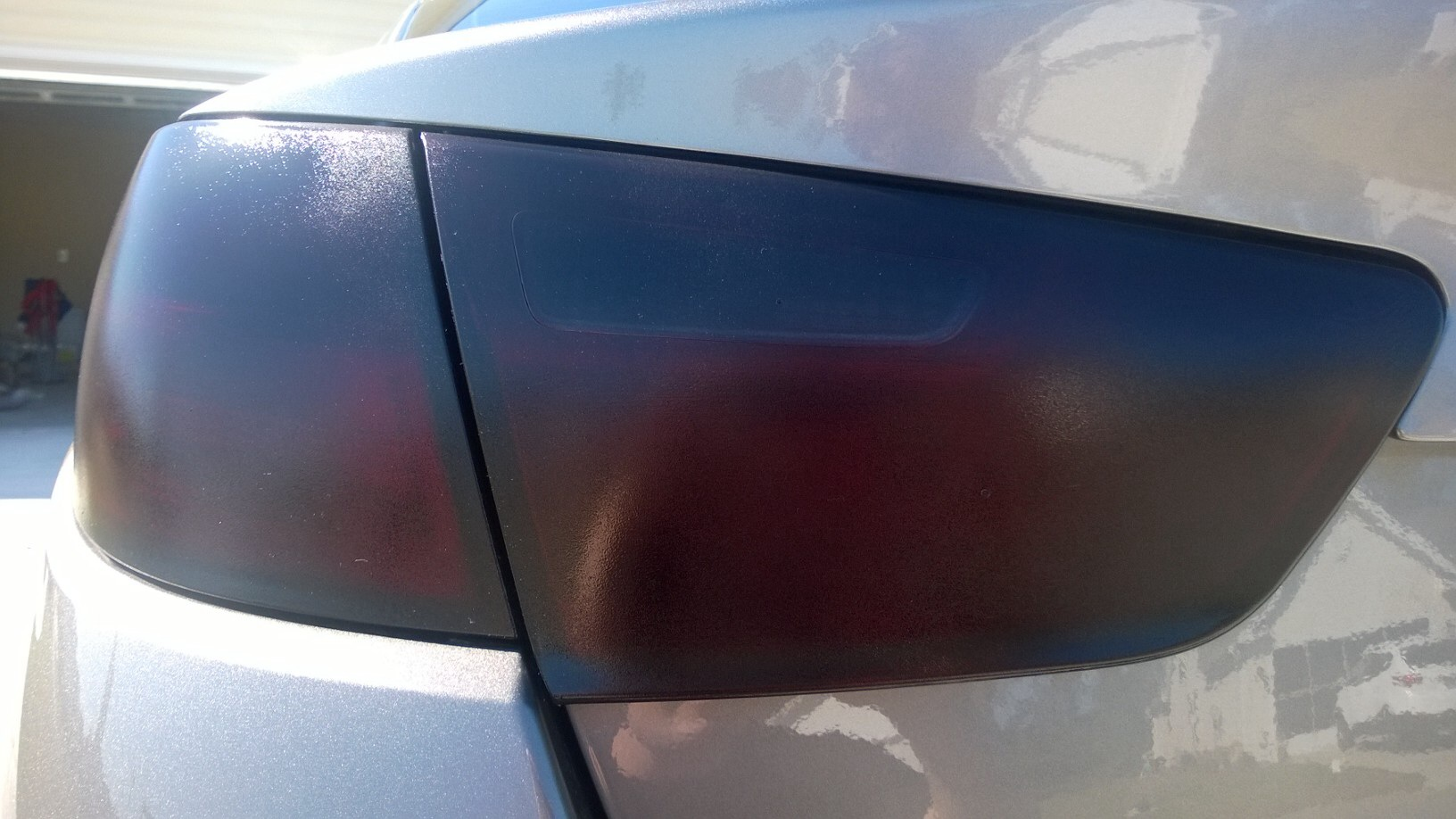 Tinted taillights with rustoleum lens tint for Garage seat lens