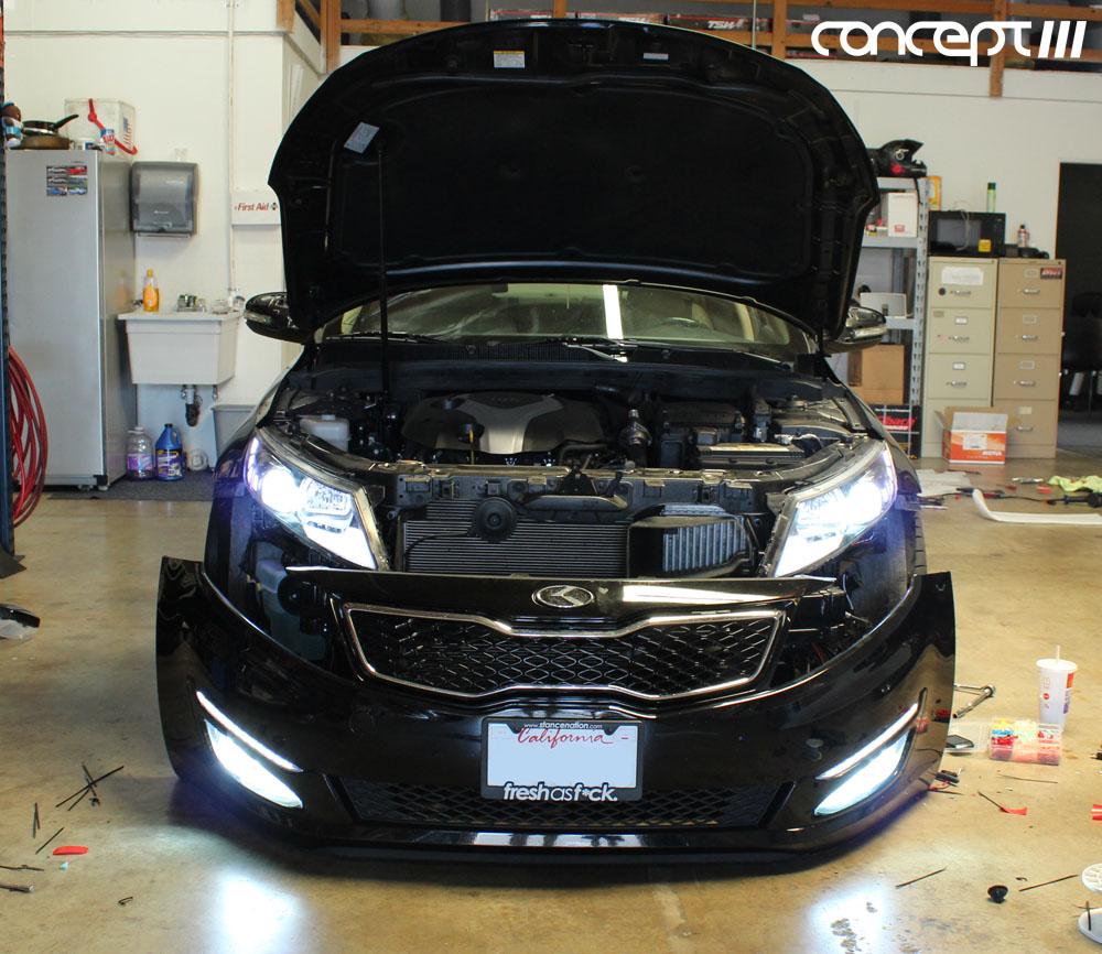 angel eye led headlights project for 2012 kia optima img_4501 jpg