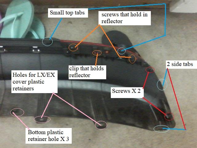 (NEW) 2016-2018 Kia Optima Rear Sequential Bumper LED Lights - K5 Optima Store-left-side-lower-cover-hardware.jpg
