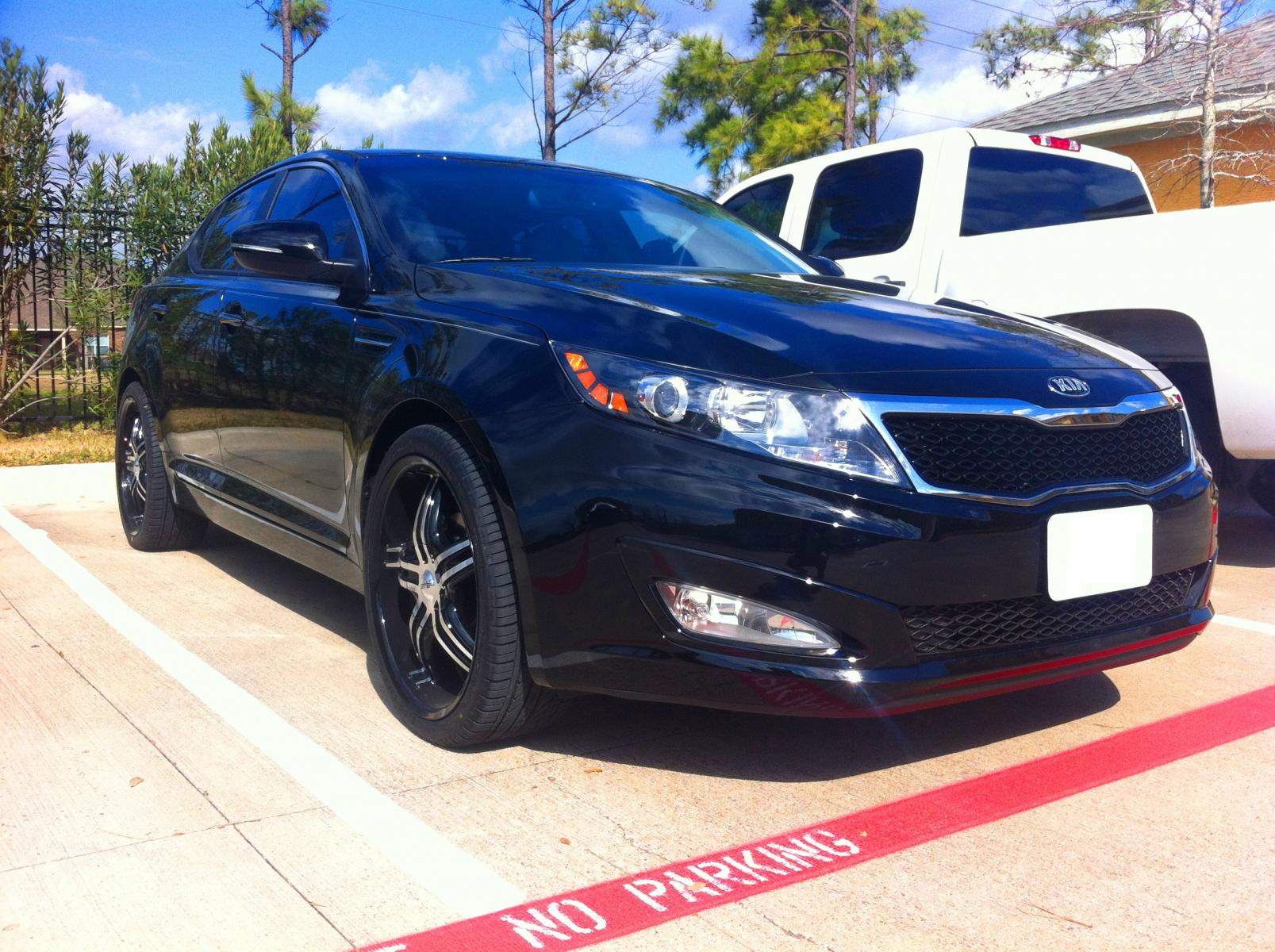 2013 kia optima ex black with black machined faced 20 s optima