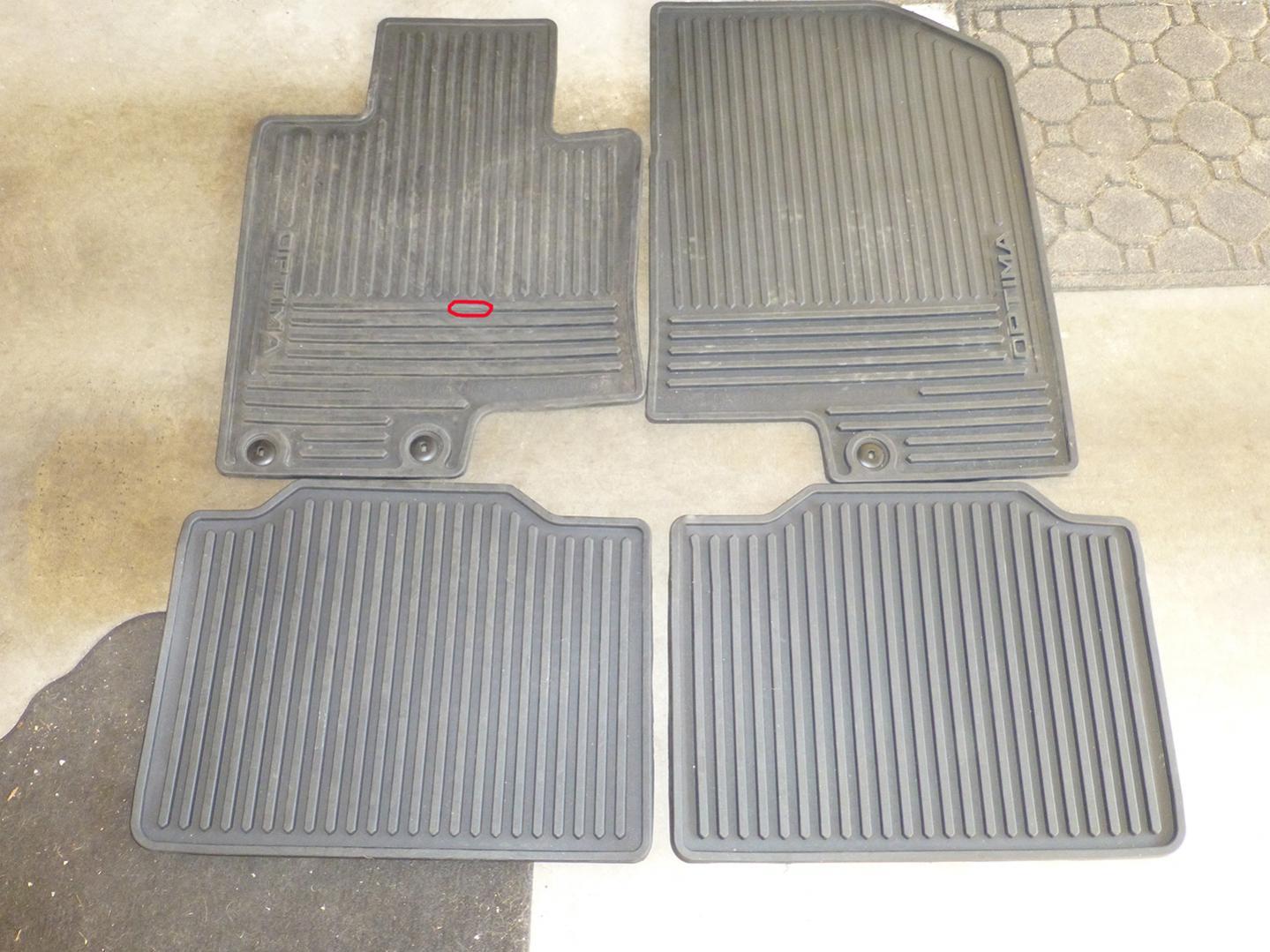 Floor mats used - Kia Rubber Floor Mats Black 2011 Optima Used 00 Plus Shipping P1000128