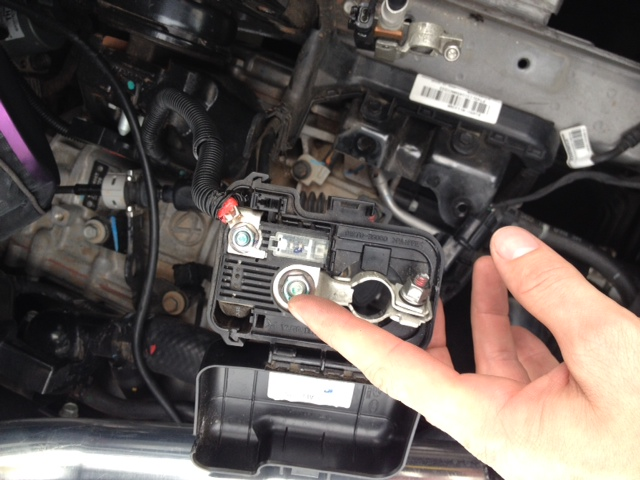 Battery Relocation To Trunk Diy Positive Terminal Bolt Jpg