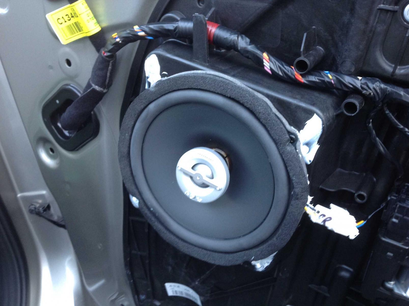 2013 EX-T Door Speakers Upgrade with Photos-speaker-installed.jpg & DIY] : 2013 EX-T Door Speakers Upgrade with Photos