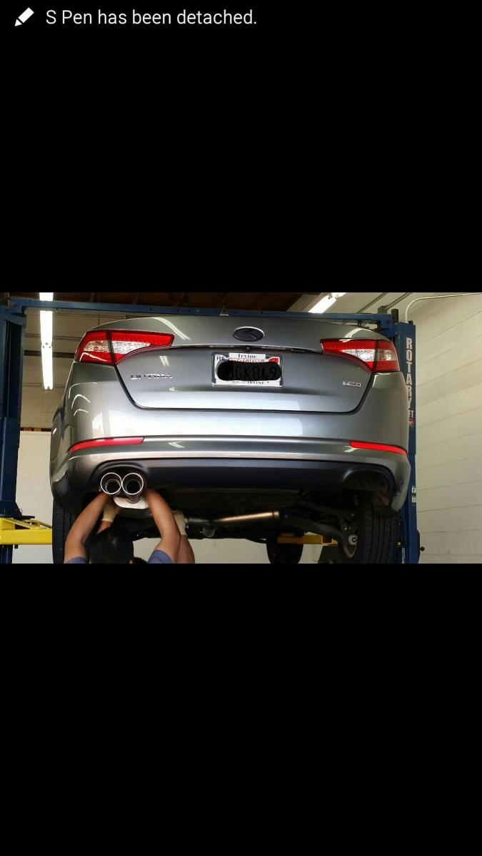 Kia Optima Hyundai Sonata Cp E Cat Back Exhaust