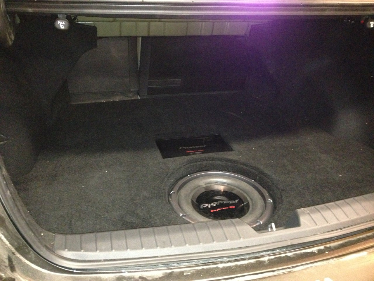 Spare tire subwoofer enclosure