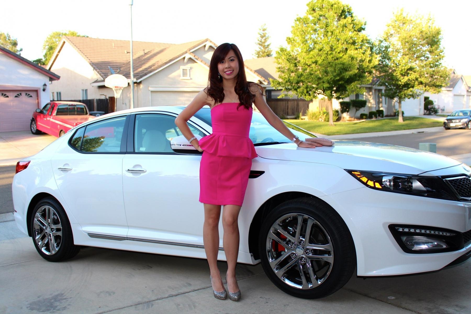 My new 2013 Kia Optima SXL and my girl.-vivian-car.jpg