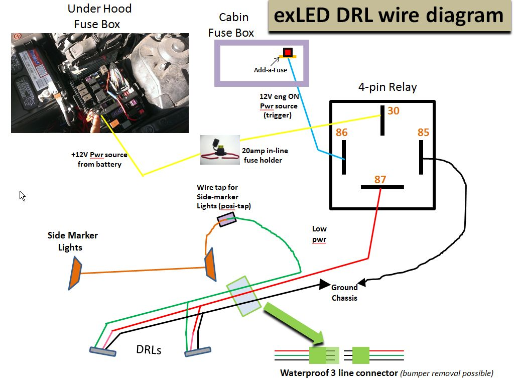 vendor fs the newest high powered led drl for the optima page  the newest high powered led drl for the optima wire dia aug21 4pin