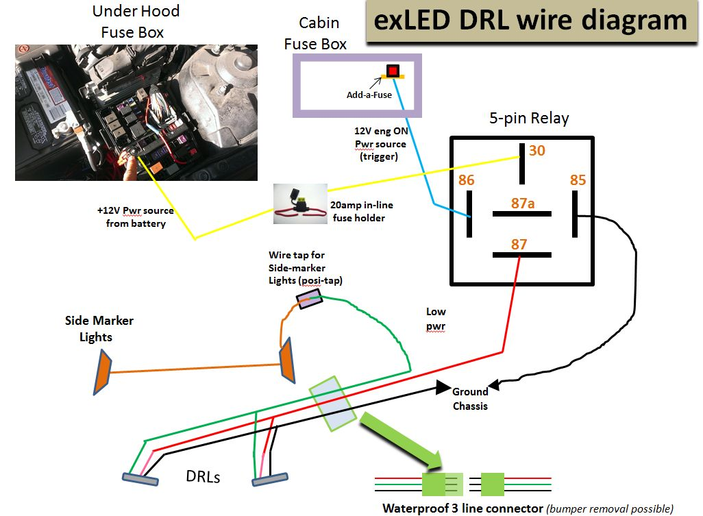 4-pin Relay The newest High Powered LED DRL for the Optima!-wire-dia-aug21_5pin  sc 1 st  Kia Optima Forum : 5 pin relay wiring - yogabreezes.com