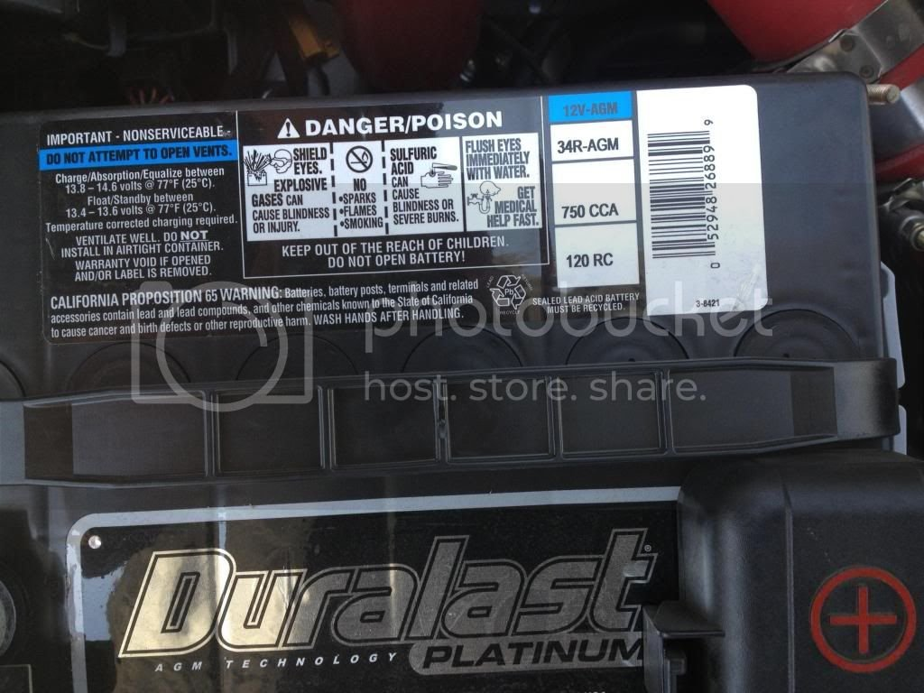 stock battery replacement  | Optima Forums