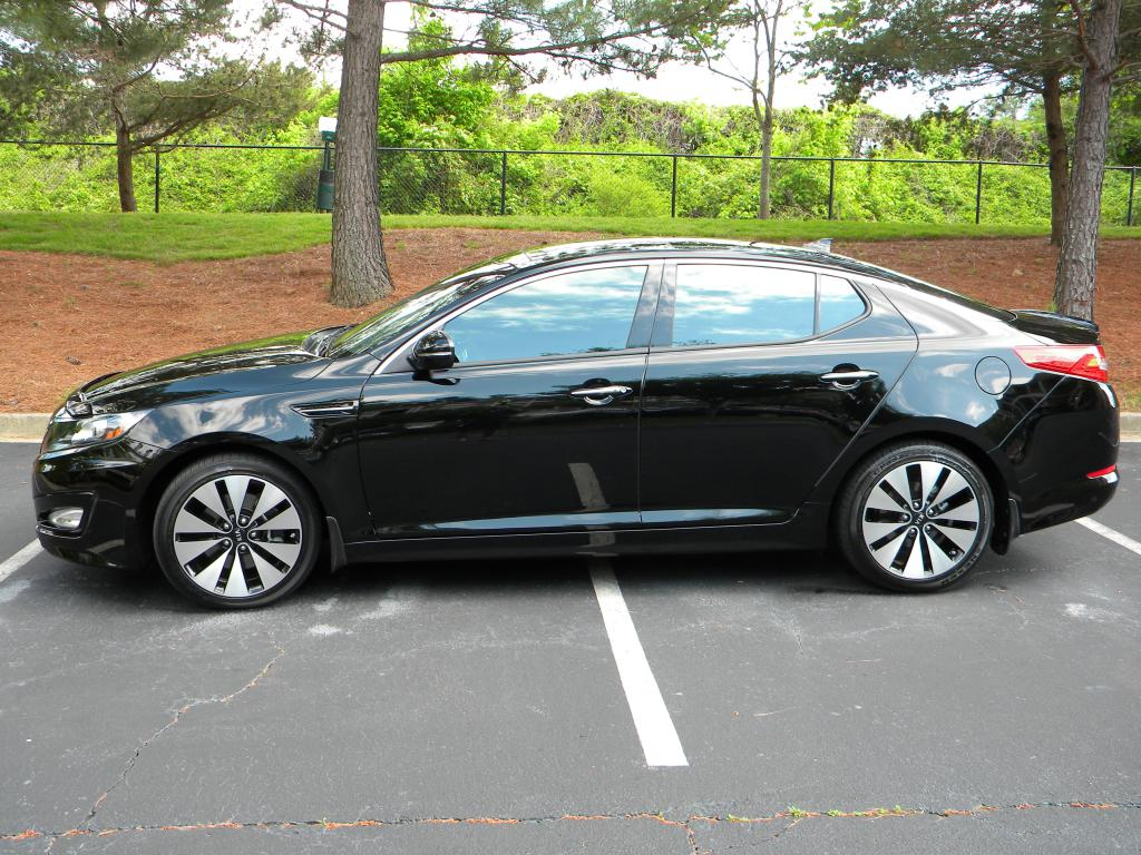 picture 1 of 3 from 2011 kia optima sx black. Black Bedroom Furniture Sets. Home Design Ideas